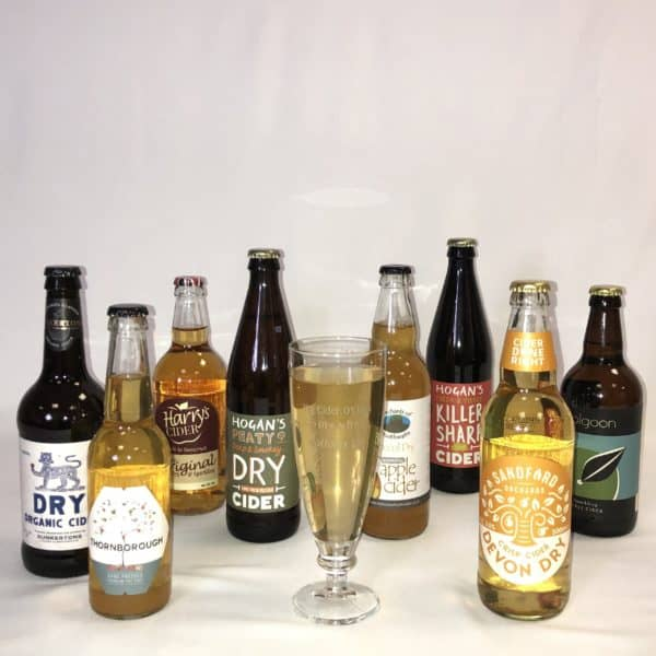 Ciderlicious - Gift of 8 Dry Ciders with Engraved Glass 1