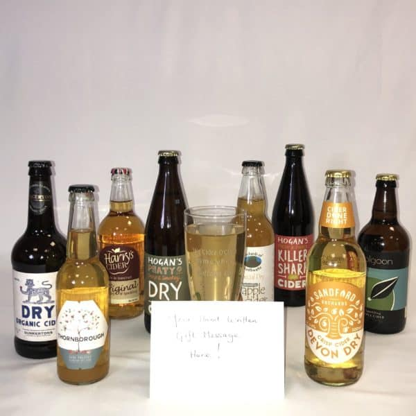 Ciderlicious - Gift of 8 Dry Ciders with Engraved Glass 2