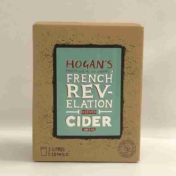 Ciderlicious - Hogans French Revelation 3L Bag in Box (Still) 1