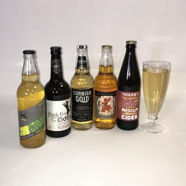 Ciderlicious - Gift of 5 Medium Dry Ciders with Engraved Glass 1