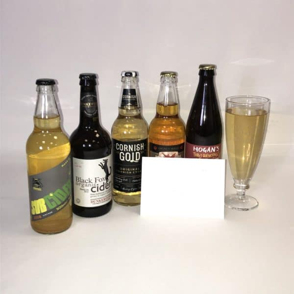Ciderlicious - Gift of 5 Medium Dry Ciders with Engraved Glass 2