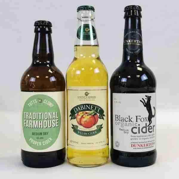Ciderlicious - Night in Box - 9 Medium Dry Cider Bottles & 4 Snacks 1