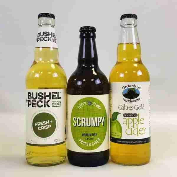 Ciderlicious - Night in Box - 9 Medium Dry Cider Bottles & 4 Snacks 3