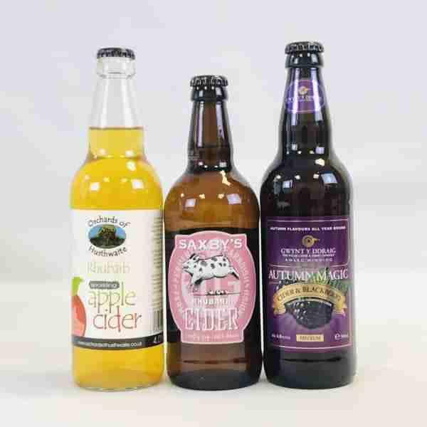 Ciderlicious - Night in Box - 9 Dark Fruit Cider Bottles & 4 Snacks 1