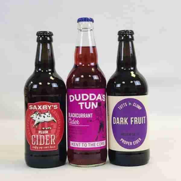 Ciderlicious - Night in Box - 9 Dark Fruit Cider Bottles & 4 Snacks 2