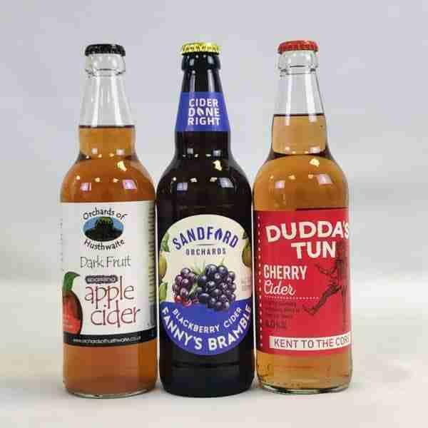Ciderlicious - Night in Box - 9 Dark Fruit Cider Bottles & 4 Snacks 3