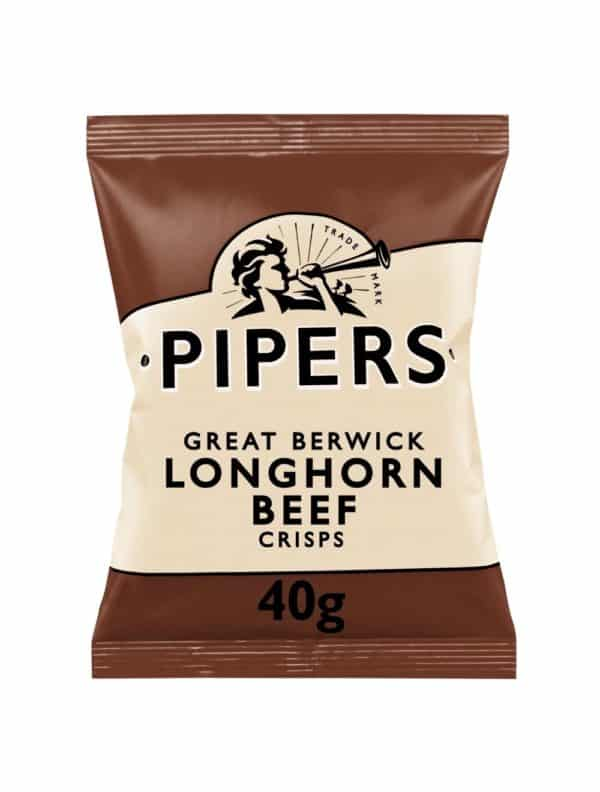 Ciderlicious - Pipers Crisps Longhorn Beef - 40g 1