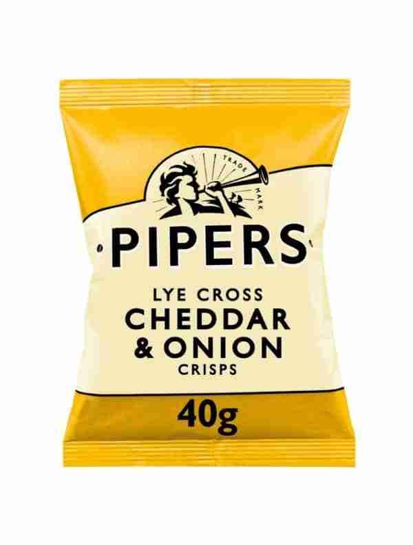 Ciderlicious - Pipers Crisps Lye Cross Cheddar & Onion - 40g 1