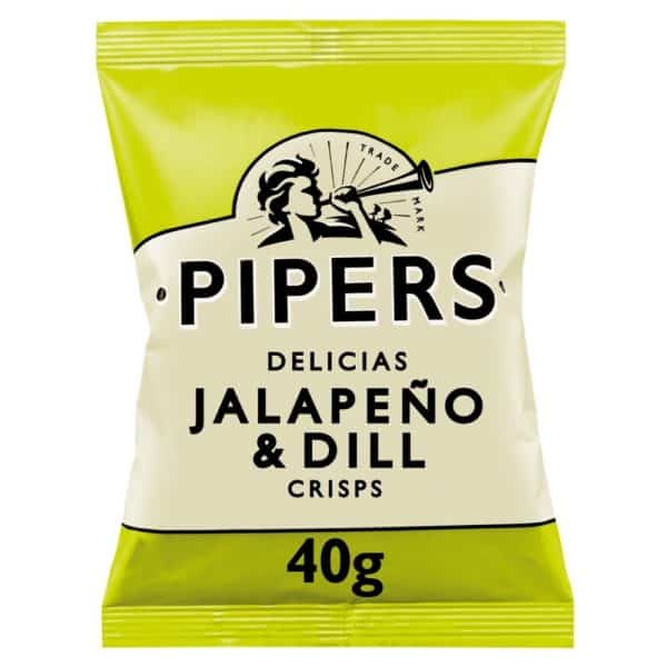 Ciderlicious - Pipers Crisps Jalepeno & Dill - 40g 1
