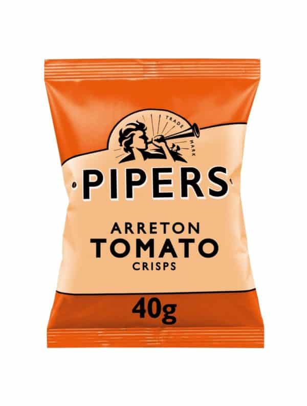 Ciderlicious - Pipers Crisps Arreton Spicy Tomato - 40g 1